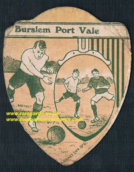 1900 Burslem Port Vale Gold Medal Baines football card